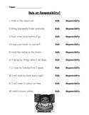 Rule or Responsibility Worksheet