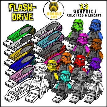 Flash Drive Clipart (Stationeries)