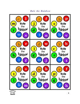 Rule the Rainbow phonics game