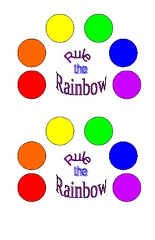 Rule the Rainbow onset/rime game