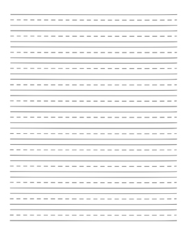 Ruled Writing Paper
