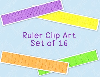 Ruler Clip Art Bundle Printable Inches Centimeters PNG JPG Commercial Personal