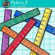 Ruler Clip Art {Rainbow Measurement Tool Graphics for Math Resources} 2
