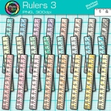 Ruler Clip Art {Rainbow Measurement Tool Graphics for Math Resources} 3