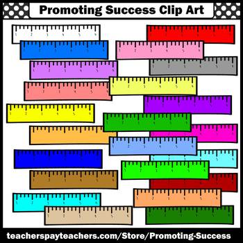 Ruler Clipart, 6 Inch Rulers Clip Art, for Math Worksheets & Activities SPS