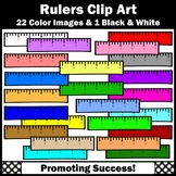 School Ruler Clip Art, 6 Inches, SPS