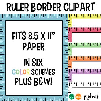 Ruler Clipart Border Frame -- Fits 8.5x11\