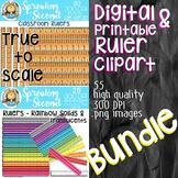 Ruler Clipart Bundle