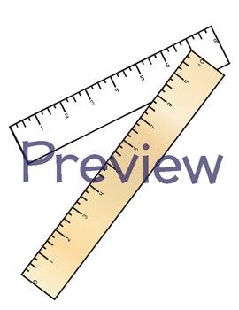 Ruler Clipart-To Scale