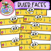 Ruler Faces: Back-to-School Clipart {DobiBee Designs}