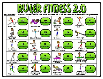 Ruler Fitness 2.0 (Centimeters)