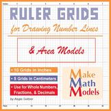 Ruler Grids for Drawing Number Lines & Area Models