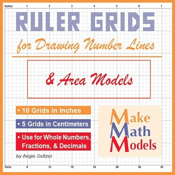 Ruler Grids for Drawing Number Lines & Area Models