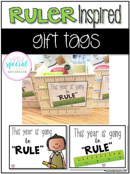 Ruler Inspired Gift Tags