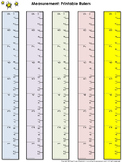 Ruler Measurement Tools: Printable Rulers Whole Inch and Centimeter Increments