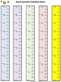 Ruler Measurement Tools: Printable Rulers Whole Inch and C