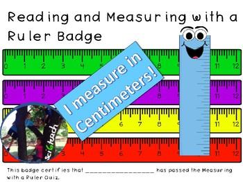 Ruler Measurements Badge + Quiz + Process Skills