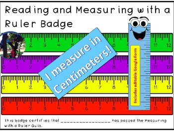 Ruler + Measuring and Reading a Ruler + Badge