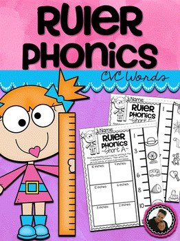 Ruler Phonics ~ CVC Words No Prep Printables