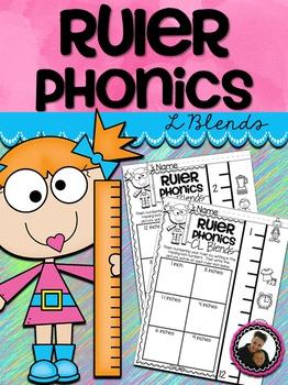 Ruler Phonics ~ L Blends No Prep Printables