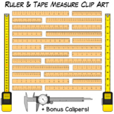 Ruler & Tape Measure Clip Art | Measuring Length