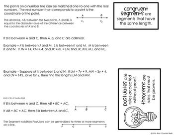 Ruler and Segment Addition Postulate Foldable