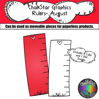 Rulers August Clip Art –Chalkstar Graphics
