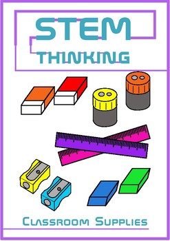 Rulers, Erasers and Sharpeners Back to School Clip Art- 50 Images