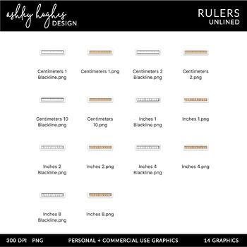 Rulers Clipart {A Hughes Design}