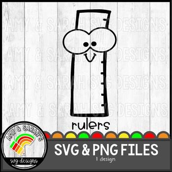 Rulers Label SVG Design