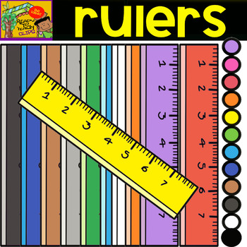 Rulers - School Supplies - Cliparts set - 12 Items