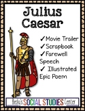 Julius Caesar Ancient Rome Projects - Movie Trailer, Scrapbook, Speech or Poem