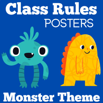 Monster Theme | Alien Theme | Space Theme | Class Rules Posters