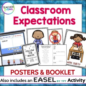 Classroom Rules Posters & Interactive Booklet