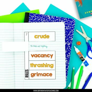 Rules Foldable Novel Study Unit