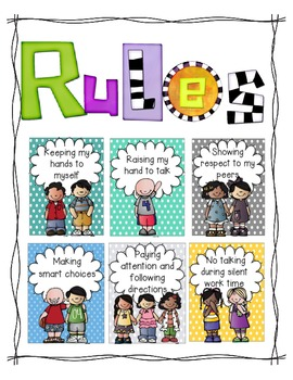Rules (A Classroom Behavior Plan that is simple and effective) polka dots