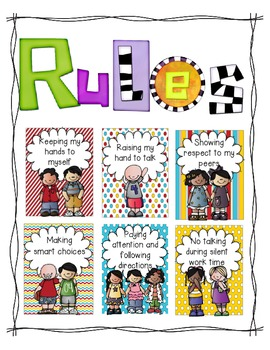 Rules (A Classroom Behavior Plan that is simple and effective) school theme