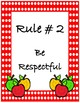 Rules Anchor Chart~ Red Polka Dot Apple Buddies