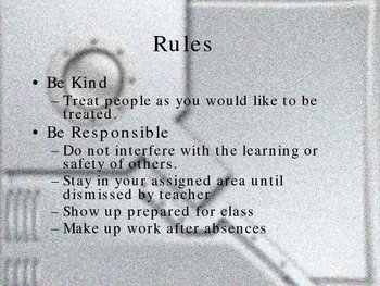 Rules And Proceedures