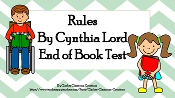 Rules By Cynthia Lord End of Book Test