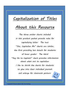 Rules Capitalization of Titles