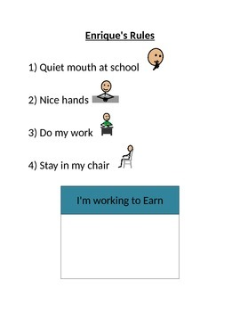 Rules Chart - I'm working to earn Chart