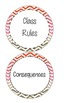 Rules & Consequences in Chevron Print