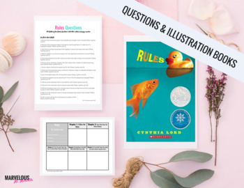 Rules, Cynthia Lord: 100 Literal Question & Handouts {Battle of the Books}
