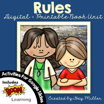 rules novel study vocabulary comprehension writing skills