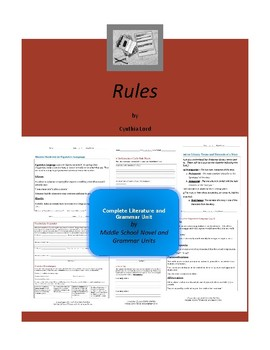 Rules (Cynthia Lord) Complete Literature and Grammar Unit