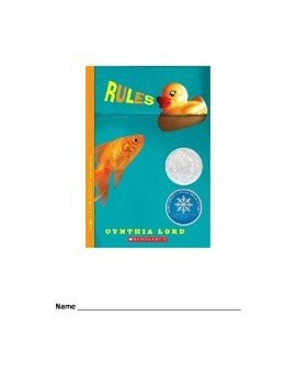 Rules (Cynthia Lord) Novel Unit Higher Order Thinking ?s