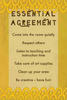 Rules Essential Agreement Poster For Art Class