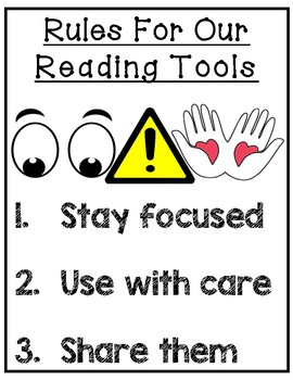 Rules For Reading Tools Poster