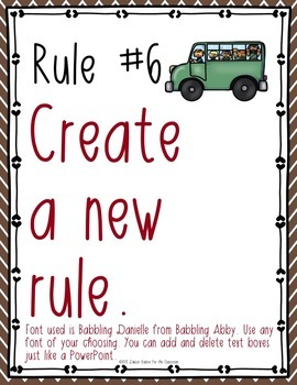 Classroom Rules EDITABLE Text - Happy Campers Decor